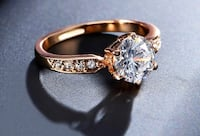 Brand new 1.75ct AAA Zircon Engagement or wedding Rose gold ring anel Austrian Crystals top quality. Nanaimo, V9T 2N6