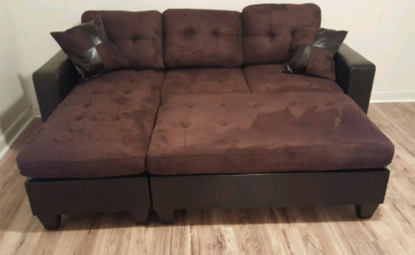 Brand New Brown Microfiber Sectional Sofa +Ottoman 58736a12-465d-4c89-9bef-f77ec82151bf