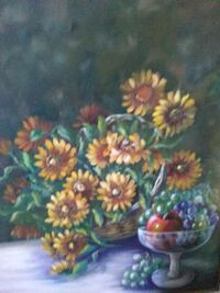 green, yellow, and red flower painting Alameda, 94501