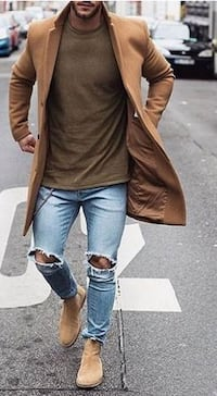 (New) Urban Outfitters Camel Wool Men's Coat Toronto