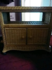 brown wicker 2-drawer nightstand Washington, 20018