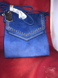 blue and brown leather handbag Jacksonville, 32220