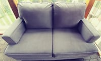 gray velvet fabric 2-seat sofa THORNHILL