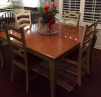 Bassett wooden table and 6 chairs Nashville, 37205
