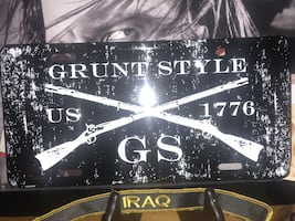 Grunt style license plate