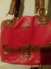 women's red and brown leather handbag Richmond, 40475