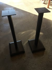 Two black wooden stands Wappinger, 12590