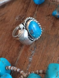 Turquoise Sterling Silver Ring Plano