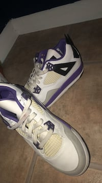 pair of white-and-purple Air Jordan shoes West Deptford, 08096