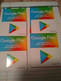 Three Google play gift cards for sale Kansas City, 64123