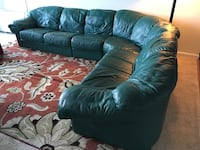 4-section Green couch. Willing to negotiate  Towson, 21286