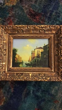 brown wooden framed painting of house Alexandria, 22312