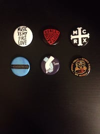 Pins: Music is my First Love, Fall Out Boy, MCR, Ed Sheeran, Love Simon, and Strike Pin Burnaby, V5H 2Y5