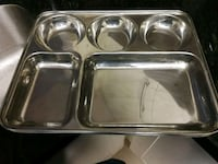 Stainless steel plate with 5 pockets Mississauga, L5B 4A1