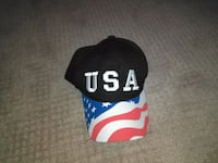 black and white fitted cap Cartersville, 30120