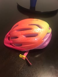 Pink a purple kids bicycle helmet Chantilly, 20151