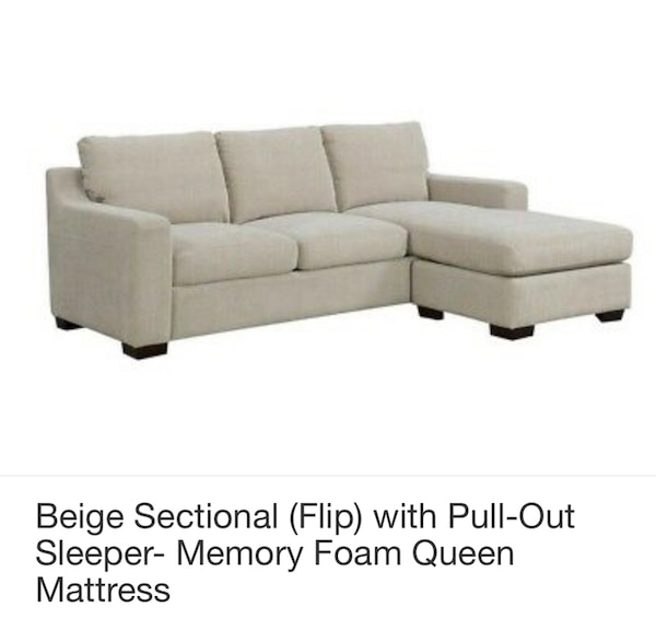 Fine Darker Beige Couch With Pull Out Sleeper Memory Foam Mattress With Sectional Creativecarmelina Interior Chair Design Creativecarmelinacom