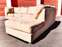 Two piece microfiber sectional couch… Can deliver :-) Las Vegas, 89169
