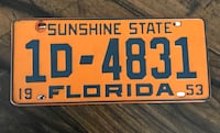 Antique license plate Cape Coral, 33909