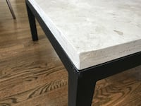 Crate & Barrel Travertine Marble Coffee Table BETHESDA