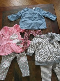 Baby girls Clothing lot size 12 months