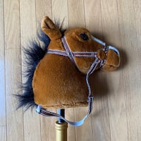 Plush Horse Stick Toy With Velcro Strap
