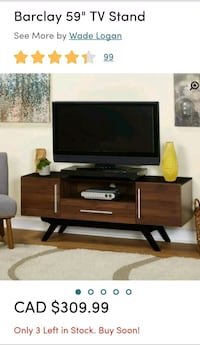 TV stand walnut/black from Wayfair  Montréal, H1C 2E5