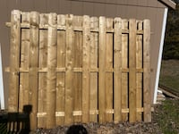 6' wood fence panels 3 available $50 per panel