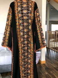 black and yellow floral long-sleeved dress Edmonton, T5Z 3L9