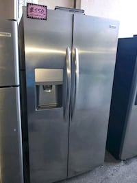 F. Side by side doors fridge NEW scratch and dent  Baltimore, 21223