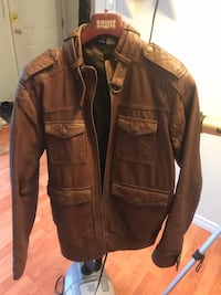 Brown leather zip-up jacket Edmonton, T6L 5W6