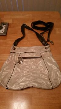 women's black and cream sling bag 3716 km