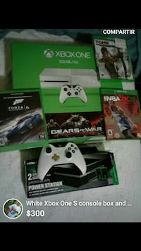 Xbox One console with controller and game cases Hartford, 06106