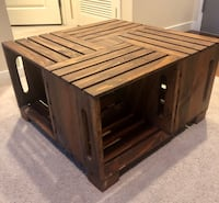 Handmade crate coffee table, wood-stained Los Angeles, 90036