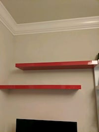 Pair of Ikea shelves in red  Milpitas, 95035