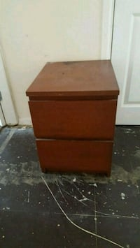 brown wooden 2-drawer nightstand Wigan, WN1 3AX