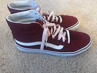 Burgundy high top vans Washington, 20240