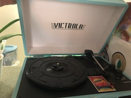 Victrola Blue Record Player