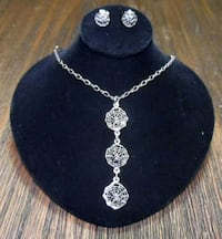Spider Web Necklace and Earring Set Portland