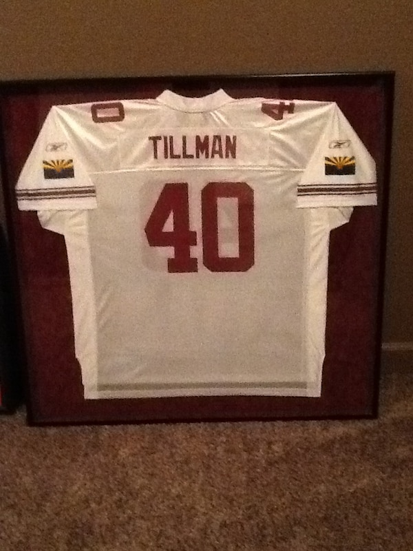 new concept f1774 2f331 Pat tillman 40 nfl jersey and additional framed pat tillman commemorative  hero photo
