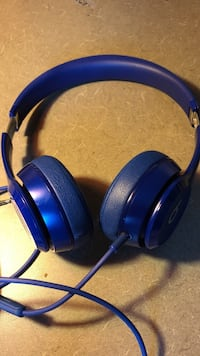 blue Beats by Dr. Dre corded headphones