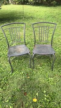 two black metal framed padded chairs Louisville, 40213