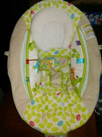 baby's white and green bouncer Warner Robins, 31093