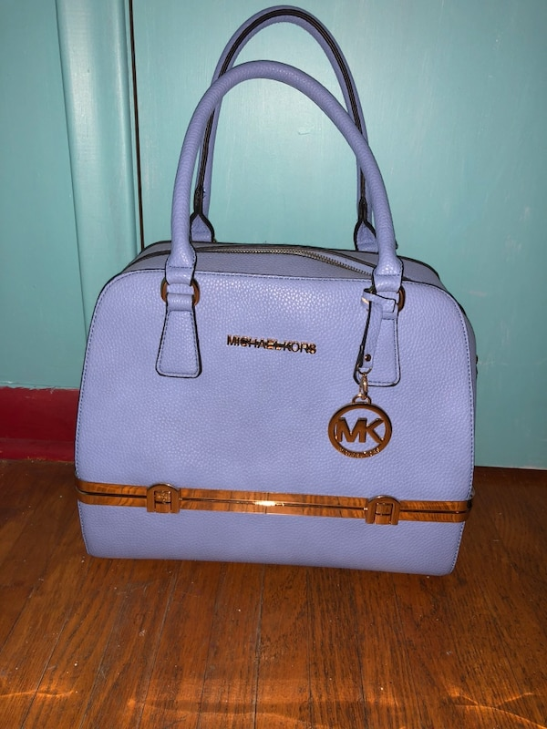 83904a3ff56e Used Purple and gold michael kors leather handbag for sale in St Catharines  - letgo