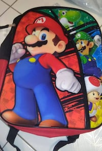 Authentic Mario Bros. Nintendo Puffy Backpack Brand New w/Tag  VIEW MY OTHER ADS!!!  Toronto
