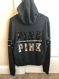 Dark gray Victoria's Secret zip up Hubert, 28539