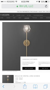BOULE DE CRISTAL LONG SCONCE (single sconce)