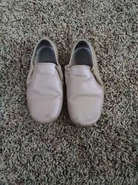 Gray 12 1/2 leather slip on shoes