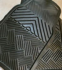 Set of 2 All Weather Black Car Mats. PERFECT CONDITION!!! Barely Used! Glendale, 85302