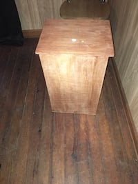brown wooden side table with drawer Trion, 30753